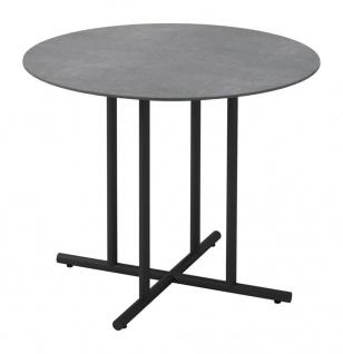 Esstisch Whirl von Gloster mit Keramik Tischplatte Ø 90 cm