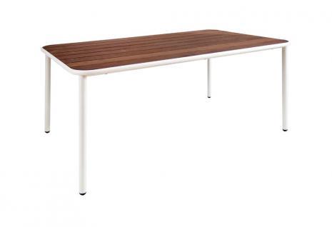 Emu Yard Esstisch • Gartentisch 160 × 97, 5 cm, Aluminiumgestell / Eschenholz Tischplatte