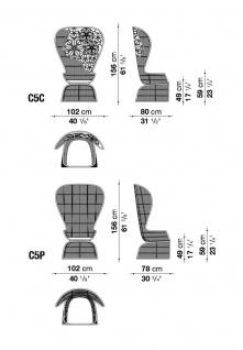 B&B Italia Crinoline Outdoor Sessel mit Polyethylenfasergeflecht 102 cm - Vorschau 2