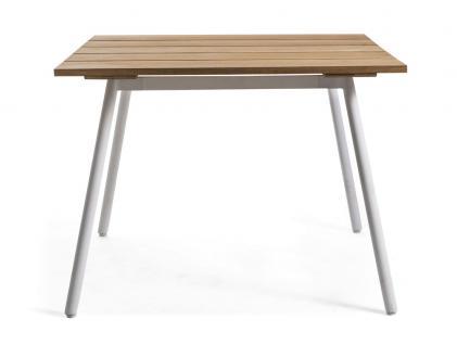 OASIQ REEF Gartentisch 100 x 100 cm • Outdoor Esstisch mit Aluminiumgestell - Vorschau 1