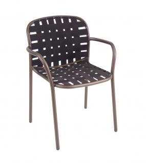 4 Stück × Emu Yard Armlehnstuhl mit Gurtgeflecht stapelbar - Vorschau 5