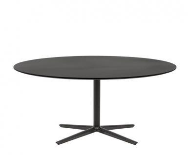 Andreu World Quattro Outdoor Beistelltisch H55 cm mit Glas Tischplatte • Gestell 60 × 60 cm • verschiedene Größen