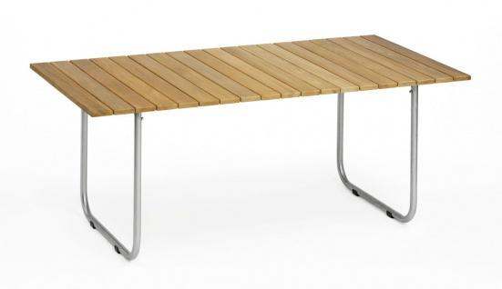 Esstisch Prato mit HPL- oder Teak-Tischplatte, Gestell beschichtet, (verschiedene Größen) von Weishäupl
