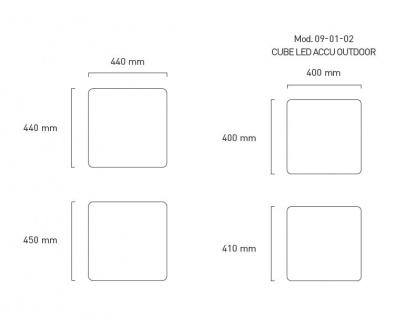 Moree Beistelltisch Cube LED Accu Outdoor Lithium - Vorschau 2