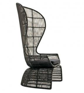B&B Italia Crinoline Outdoor Sessel mit Polyethylenfasergeflecht 102 cm - Vorschau 1