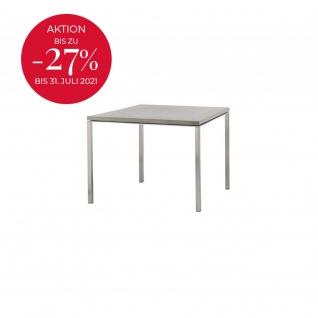 Cane-line Pure Gartentisch mit Aluminiumbeinen   Esstisch Pure 100 × 100 cm