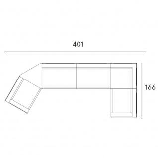 Fast New Joint Lounge-Sofa-Garnitur 401 cm: 3 x Sessel, 1 x Sofa und 1 x Ablagefläche