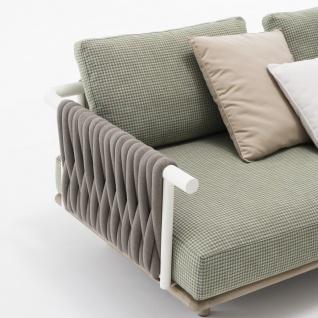 Roda Eden 2-er Gartensofa Endmodul • Loungemodul 002 + 012 • 195 × 100 cm