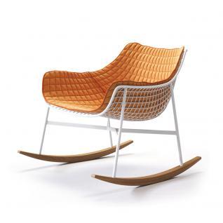 Varaschin Summer Set Schaukelstuhl inkl. Sitz- und Rückenpolster • Loungesessel 74 cm