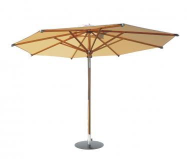 Woodline Sonnenschirm von Fischer Möbel aus Eukalyptusholz lasiert Ø 350 cm