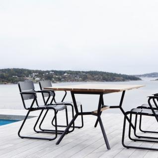 OASIQ REEF Gartentisch 240 x 100 cm • Outdoor Esstisch mit Aluminiumgestell - Vorschau 2