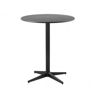 Cane-line Drop Gartentisch mit Aluminiumplatte | Bistrotisch Ø 60 cm