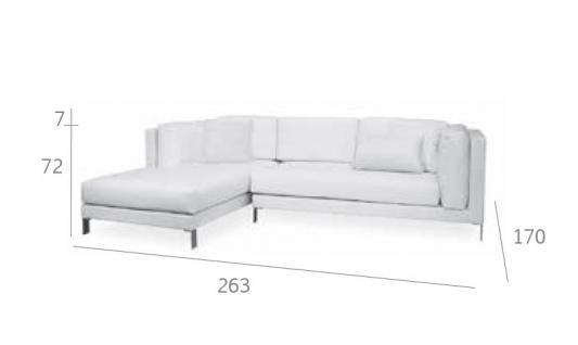 Expormim Slim Loungesofa 263 cm