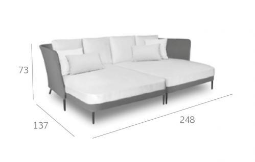 Expormim Käbu Loungeliege 248 cm • Batyline Senso®