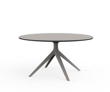 Vondom Mari-Sol Loungetisch / Beistelltisch mit HPL Tischplatte Ø100/130 oder 100×100 cm