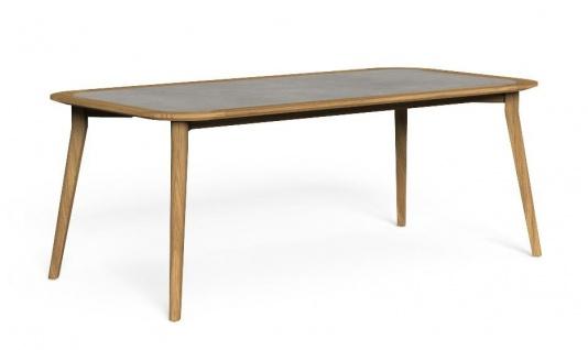 Talenti MOON Teak Gartentisch 200 cm • Esstisch mit HPL Tischplatte