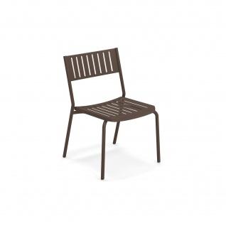4 Stück • Emu Bridge Gartenstühle • Essstühle mit Metall Sitzschale, stapelbar