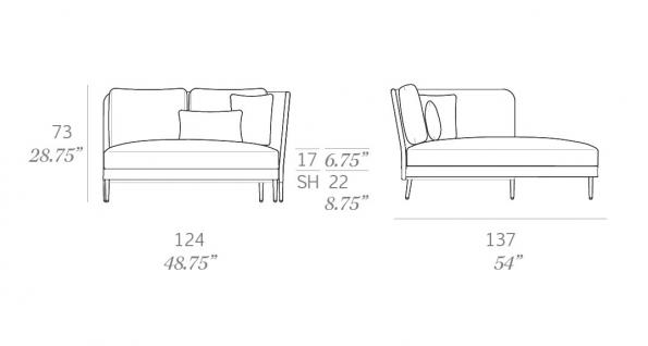 Expormim Käbu Chaiselongue Modul rechts/links • 3D Mesh oder Batyline Senso Bespannung - Vorschau 5