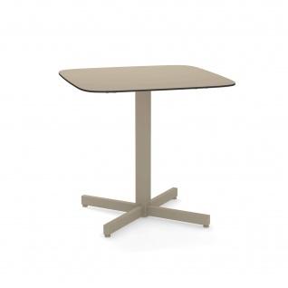 Emu Shine Gartentisch 79 cm konfigurierbar • Outdoor Bistrotisch aus Aluminium / Teakholz / HPL - Vorschau 5