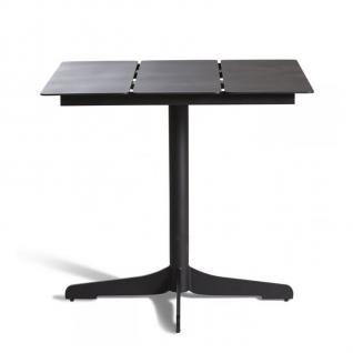 OASIQ CERU Esstisch mit Keramik, Aluminium oder Teakholz Tischplatte 70 × 70 cm