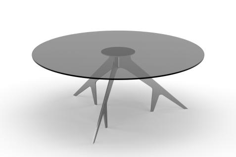 YACHTLINE SWING • Loungetisch rund Ø 100 cm mit Tischplatte aus Glas