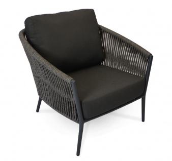 Cosmo Loungesessel mit Aluminiumgestell anthrazit/charcoal von Fischer Möbel