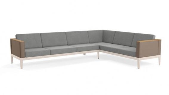 Loungesofa Aura • 3 + 3 Ecksofa • 357 × 267 cm von Barlow Tyrie