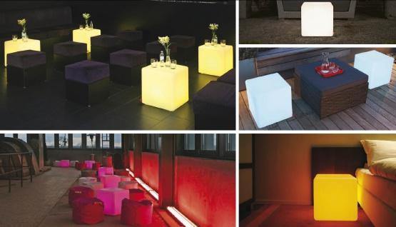 Moree Beistelltisch Cube LED Accu Outdoor Lithium - Vorschau 5