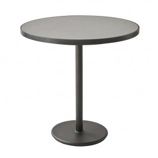 Cane-line Go Gartentisch | Bistrotisch mit Aluminium-/Keramikplatte Ø 75 cm