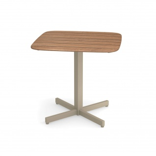 Emu Shine Gartentisch 79 cm konfigurierbar • Outdoor Bistrotisch aus Aluminium / Teakholz / HPL - Vorschau 4