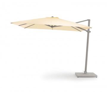 Freiarm Sonnenschirm von Weishäupl quadratisch 400 x 400 cm