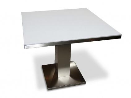 Gartentisch Cima Dining Singular 90 cm mit Glas- bzw. Keramik Tischplatte von FueraDentro