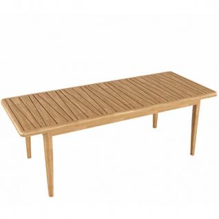 YACHTLINE SEAGULL • Gartentisch 220/280 cm mit Tischplatte aus Massivholz