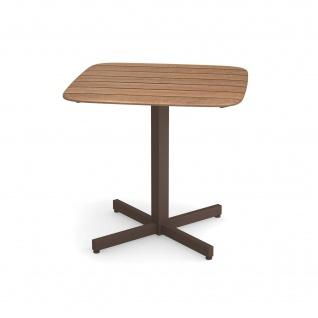 Emu Shine Gartentisch 79 cm konfigurierbar • Outdoor Bistrotisch aus Aluminium / Teakholz / HPL - Vorschau 2