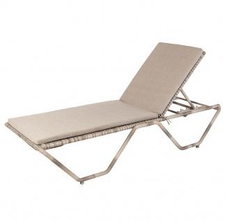Alexander Rose Ocean Pearl Sonnenliege mit Sitz und Rückenkissen