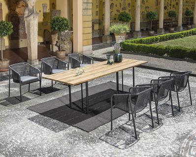 Fischer Möbel Suite Esstisch 260× 95 cm, Gestell Edelstahl geschliffen oder Anthrazit matt beschichtet - Vorschau 4