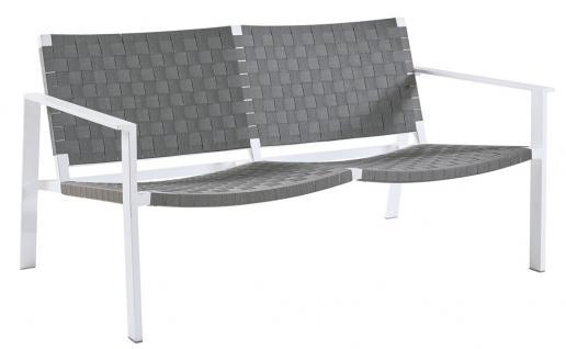 Sifas Pheniks Loungesofa Zweisitzer mit Aluminiumgestell und Gurtgeflecht