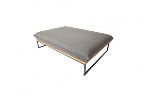 Fischer Möbel Flora Lounge Polsterbank 139 × 105 cm mit Edelstahlgestell