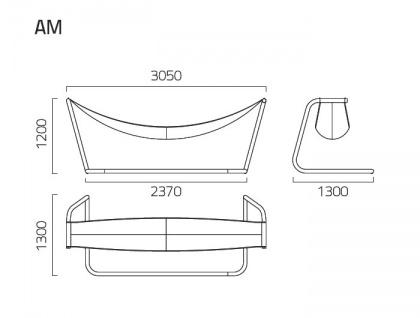 Coro SG1 Hängematte 305 cm, Seil- oder TEX Gewebe Ausführung - Vorschau 2