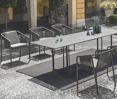 Fischer Möbel Suite Esstisch 260× 95 cm, Gestell Edelstahl geschliffen oder Anthrazit matt beschichtet - Vorschau 3