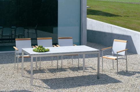 Esstisch Modena 95x200/260 cm, mit 1 Einlegeplatte von Fischer Möbel - Vorschau 5