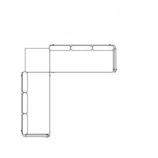 Fast Aikana Lounge-Sofa-Garnitur 297 x 297 cm: 2 x 3-er Sofa und Beistelltisch
