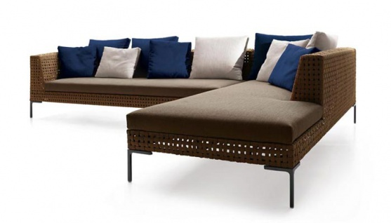 Bb Italia Charles Outdoor Chaise Longue Element Rechts 234 Cm