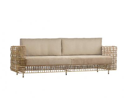 Loungesofa Yin & Yang 249 × 91 cm (brown/natural) von Kenneth Cobonpue