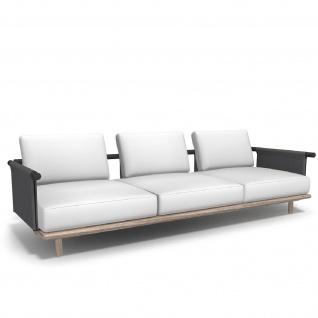 Roda Eden 3-er Gartensofa • Loungemodul 003 + 013 • 295 × 100 cm