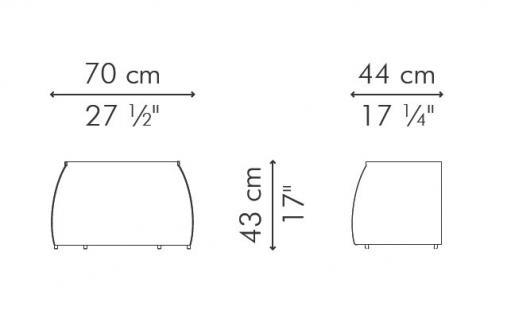 Indoor Rattan Beistelltisch Nite 70 cm Hagia von Kenneth Cobonpue - Vorschau 2