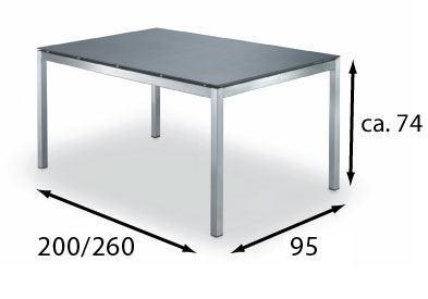 Esstisch Modena 95x200/260 cm, mit 1 Einlegeplatte von Fischer Möbel - Vorschau 3
