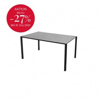 Cane-line Pure Gartentisch mit Aluminiumbeinen   Esstisch Pure 150 × 100 cm