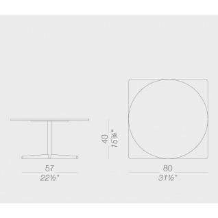 Lapalma Auki Loungetisch / Kaffeetisch quadratisch 80 x 80 cm / weiß oder schwarz - Vorschau 2