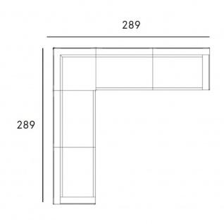 Fast New Joint Lounge-Sofa-Garnitur 289 x 289 cm: 1 x Eckmodul und 2 x 3-Sitzer-Sofa mit Armlehne links